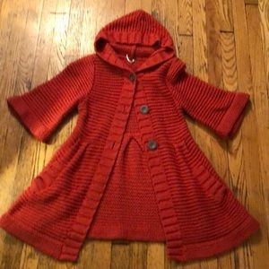 Free People Hooded Knit Cardigan Size Medium